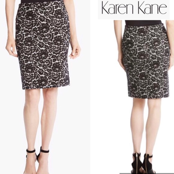 Karen Kane Dresses & Skirts - Karen Kane Skirt Black/White Lace Print Sexy Chic